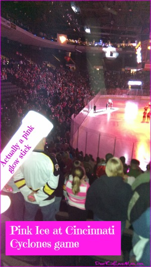 Pink in the Rink at Cincinnati Cyclones DearKidLoveMom.com